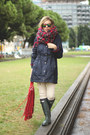 Hunter-boots-riverside-coat-pull-bear-scarf-suitblanco-bag
