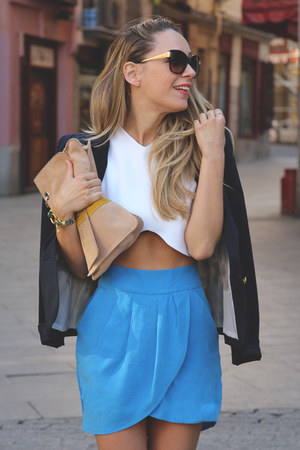 gaats skirt - Dolce and Gabbana sunglasses - Zara top