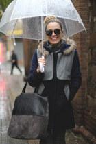 Sheinsidecom coat - Lefties scarf - Messcalino bag - zeroUV sunglasses