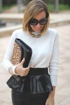 Zara bag - Zara belt - Primark jumper - H&M skirt - Claires necklace
