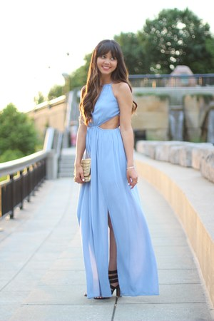 maxi Tobi dress - JustFab shoes - clutch H&M bag - Rocksbox ring
