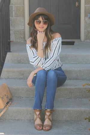 Forever 21 top - H&M hat - crossbody Rebecca Minkoff bag - Aldo sunglasses