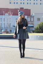 beanie Forever 21 hat - Target boots - black leather Forever 21 jacket