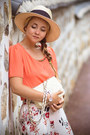 Cream-h-m-hat-cream-martofchina-bag-salmon-oasap-blouse