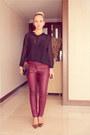 Black-vedette-intimate-magenta-h-m-pants-mustard-miss-nabi-heels