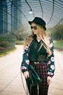 Blue-sheinside-blazer-black-inzi-bag-black-zerouv-sunglasses
