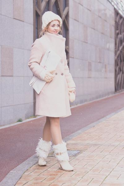 white choiescom bag - light pink Choies coat - light pink Choies skirt
