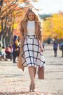 Mustard-shein-coat-light-pink-michael-kors-bag-white-chicwish-skirt