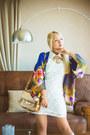 White-goodnight-macaroon-dress-bronze-stylemoi-bag-yellow-stylemoi-necklace