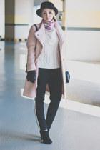 black Rebecca Minkoff bag - light pink Choies coat - black Forever 21 pants