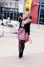 Bubble-gum-chicwish-dress-black-armani-exchange-jacket-bubble-gum-oasap-bag