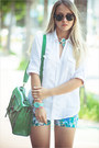 Aquamarine-chicwish-watch-green-chicnova-bag-sky-blue-awwdore-shorts