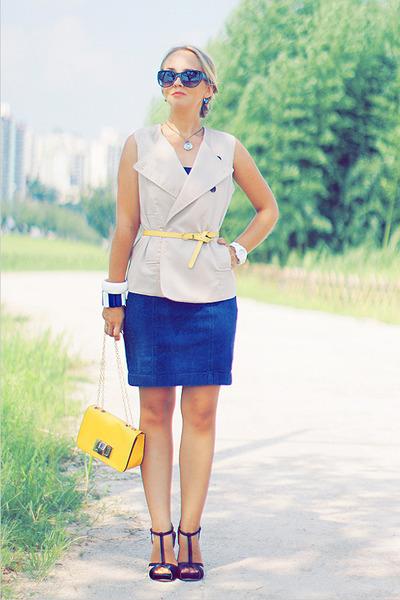 OASAP bag - Forever 21 dress - Forever 21 sunglasses - swarovski necklace