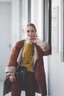 Mustard-romwe-sweater-black-rebecca-minkoff-bag