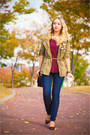 Light-yellow-forever-21-necklace-navy-levis-jeans-olive-green-topshop-jacket