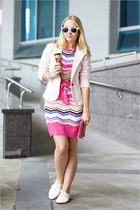 bubble gum Missoni dress - light pink Miss Nabi blazer
