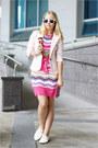 Bubble-gum-missoni-dress-light-pink-miss-nabi-blazer