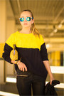 Mustard-casio-watch-black-armani-exchange-jacket-yellow-sheinside-sweater