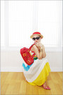 Yellow-miss-nabi-dress-red-yah-bag-black-forever-21-sunglasses-red-guess-h