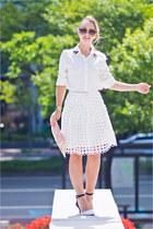 white Udobuy skirt - off white sammydress bag - brown Celine sunglasses