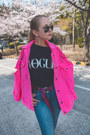 Hot-pink-styled-moscow-jacket-black-styled-moscow-t-shirt