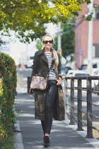 black ray-ban sunglasses - olive green Yoins coat - white Old Navy sweater