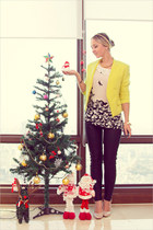yellow vivilli blazer - black Romwecom pants - white Forever 21 top