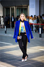 Blue-sheinside-coat-yellow-vivilli-blazer-white-zara-bag