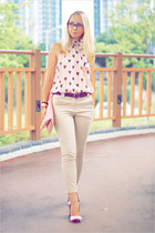 H&M blouse - Miss Nabi bag - Miss Nabi pants - firmoo glasses - casio watch