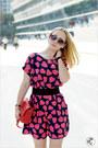Red-miss-nabi-bag-amethyst-forever-21-sunglasses-black-zara-heels