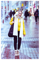yellow OASAP jacket - black The Travel Club bag - black romwe pants