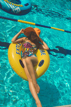 gold San Diego Hat Company hat - gold Choies swimwear