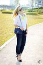 Navy-levis-jeans-navy-miss-nabi-bag-dark-brown-celine-sunglasses