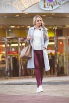 white Enzo Angiolini shoes - silver OASAP coat - white similar OASAP sweater