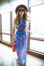 Sky-blue-similar-forever-21-dress-dark-brown-similar-jcrew-hat-red-oasap-bag