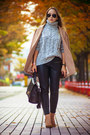 Neutral-choies-coat-silver-oasap-sweater-black-oasap-bag