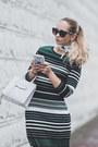Dark-green-eci-dress-white-rebecca-minkoff-bag-white-adidas-sneakers