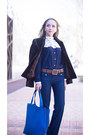 Blue-nowistyle-bag-blue-sheinside-blouse-crimson-dsquared-belt