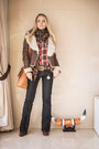 Dark-brown-miss-nabi-jacket-tawny-miss-nabi-bag-brown-sheinside-watch
