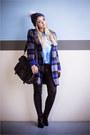 Black-oasap-boots-blue-oasap-coat-blue-merrell-hat-black-chicwish-bag