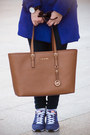 Blue-sheinside-coat-navy-tommy-hilfiger-jeans-brown-michael-kors-bag