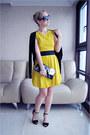 Yellow-asos-dress-black-prada-sunglasses-black-zara-heels-cream-asos-ring