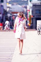 hot pink Forever 21 scarf - hot pink Miss Nabi bag
