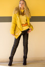 Black-asos-boots-yellow-oasap-jacket-yellow-asos-bag