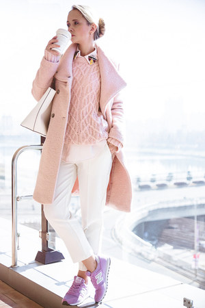 light pink similar Choies coat - light pink similar Tommy Hilfiger sweater