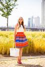 White-kate-spade-bag-carrot-orange-choies-skirt-white-choies-top