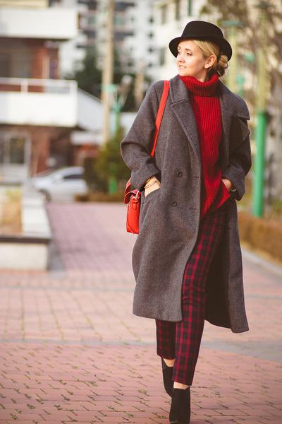 black similar asos boots - heather gray Kate-Katy coat