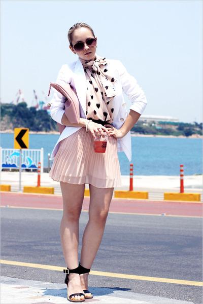 light pink Miss Nabi bag - amethyst Forever 21 sunglasses