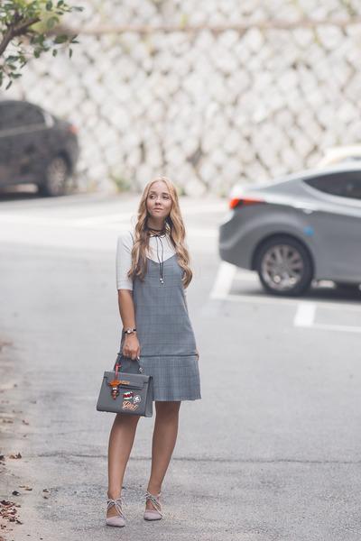silver Mixxo dress - silver romwe bag