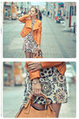White-nowistyle-dress-bronze-asos-boots-light-orange-sheinside-jacket